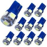 10XBlue T10 LED Car Light Bulbs T10 W5w 5 SMD 5050 Super Bright 194 168 2825 Wedge LED Car Lights Source Replacement Bulbs Rear Side Interior Lamps