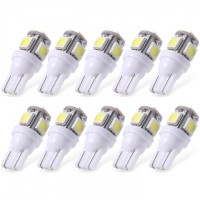 10XWhite T10 LED Car Light Bulbs T10 W5w 5 SMD 5050
