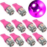 10XPink T10 LED Car Light Bulbs T10 W5w 5 SMD 5050