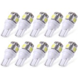 20XWhite T10 LED Car Light Bulbs T10 W5w 5 SMD 5050