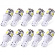 20XWhite T10 LED Car Light Bulbs T10 W5w 5 SMD 5050