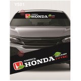 Universal Car Windscreen Sticker Front Or Rear Windscreen Windshield for Honda (YS01)