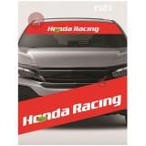 Universal Car Windscreen Sticker Front Or Rear Windscreen Windshield for Honda Racing Red (YS03)