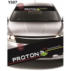 Universal Car Windscreen Sticker Front Or Rear Windscreen Windshield for Proton Motorsport (YS07)