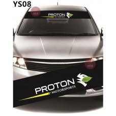 Universal Car Windscreen Sticker Front Or Rear Windscreen Windshield for Proton Design (YS08)