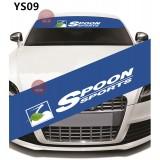 Universal Car Windscreen Sticker Front Or Rear Windscreen Windshield for Spoon Design (YS09)