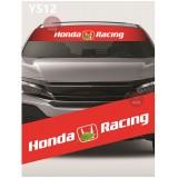 Universal Car Windscreen Sticker Front Or Rear Windscreen Windshield for Honda Racing (YS12) 10inch X 52inch