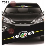 Universal Car Windscreen Sticker Front Or Rear Windscreen Windshield for Perodua (YS13) 10inch X 52inch