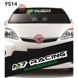 Universal Car Windscreen Sticker Front Or Rear Windscreen Windshield for M7 Racing (YS14) 10inch X 52inch