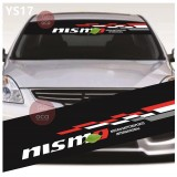 Universal Car Windscreen Sticker Front Or Rear Windscreen Windshield for Nismo (YS17) 10inch X 52inch