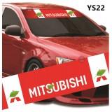 Universal Car Windscreen Sticker Front Or Rear Windscreen Windshield for Mitsubishi (YS22) 10inch X 52inch