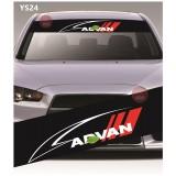 Universal Car Windscreen Sticker Front Or Rear Windscreen Windshield for ADVAN (YS24) 10inch X 52inch