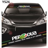 Universal Car Windscreen Sticker Front Or Rear Windscreen Windshield for Perodua (YS26) 10inch X 52inch