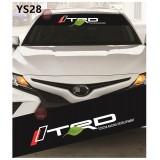 Universal Car Windscreen Sticker Front Or Rear Windscreen Windshield for TRD (YS28) 10inch X 52inch