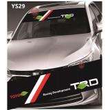 Universal Car Windscreen Sticker Front Or Rear Windscreen Windshield for TRD Racing (YS29) 10inch X 52inch