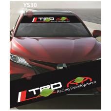 Universal Car Windscreen Sticker Front Or Rear Windscreen Windshield for TRD Racing Development (YS30) 10inch X 52inch