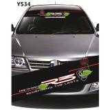 Universal Car Windscreen Sticker Front Or Rear Windscreen Windshield for R3 (YS34) 10inch X 52inch