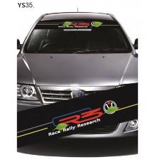 Universal Car Windscreen Sticker Front Or Rear Windscreen Windshield for R3 (YS35) 10inch X 52inch