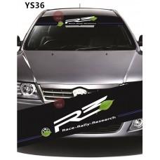 Universal Car Windscreen Sticker Front Or Rear Windscreen Windshield for R3 (YS36) 10inch X 52inch