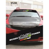 Universal Car Windscreen Sticker Front Or Rear Windscreen Windshield for Mugen (YS38) 10inch X 52inch