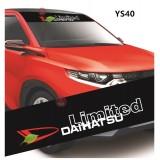 Universal Car Windscreen Sticker Front Or Rear Windscreen Windshield for Daihatsu (YS40) 10inch X 52inch