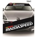 Universal Car Windscreen Sticker Front Or Rear Windscreen Windshield for Mazda (YS41) 10inch X 52inch