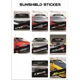 Universal Car Windscreen Sticker Front Or Rear Windscreen Windshield 10inch X 52inch YS37 - YS45