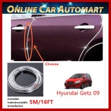 Hyundai Getz 2009 16FT/5M (Chrome) Moulding Trim Rubber Strip Auto Door Scratch Protector Car Styling Invisible Decorative Tape (4 Doors)