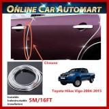 Toyota Hilux Vigo 2004-2015 16FT/5M (Chrome) Moulding Trim Rubber Strip Auto Door Scratch Protector Car Styling Invisible Decorative Tape (4 Doors)