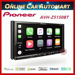 """PIONEER Double Din DVD Player 7"""" Touch screen Multimedia player with Apple CarPlay, Android Auto & Bluetooth (AVH-Z5150BT)"""