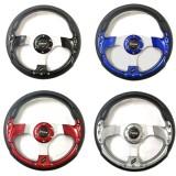 Universal Sport Racing Car Steering Wheel 13 Inch Red Blue Titanium Black Momo
