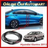 Hyundai Elantra 2013 16FT/5M (Carbon)  Moulding Trim Rubber Strip Auto Door Scratch Protector Car Styling Invisible Decorative Tape (4 Doors)