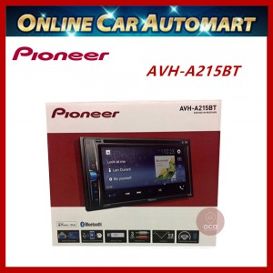 """PIONEER Car DVD Player AVH-A215BT Double Din Multimedia AV Receiver 6.2"""" WVGA Touchscreen with BLUETOOTH"""