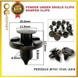 Perodua Myvi/Viva/Axia Fender Under Shield Clips/Bumper Clips(OEM)