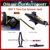 Heavy Duty Stabilizer DIY Car Scissor Jack 1 Ton with Handle Lift Levelers ( ST-102B)