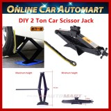 Heavy Duty Stabilizer DIY Car Scissor Jack 2 Ton with Handle Lift Levelers (ST-112C)