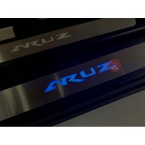 Perodua Aruz OEM LED Side Step Door ABS Steel Plate With Blue LED