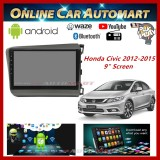 "Honda Civic 12-15 Big Screen 9"" Plug and Play OEM 16GB Android Player With Casing and WIFI Video Player/TouchScreen"