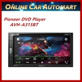 """Pioneer DVD/USB/Bluetooth AVH-A315BT Double-DIN AV Receiver with 6.8"""" Touchscreen Display, Built-in Bluetooth"""