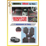 EMANON-J Silicon Car Floor Mats Waterproof and Non Slip Carpet Custom Fit For Your Vehicle (Nissan X-Trail)
