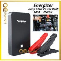 Energizer ENX8K 7500mAh UL Listed Lithium Jump Starter + 2.4A Power Bank USB charger Car Battery Jumpstart Power Bank