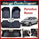 Perodua Bezza  car floor mat/ carpet Anti Slip 5d oem (Blk/Blk) (5 Seater)