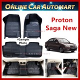 Proton Saga 16-19 5d oem car floor mat/ carpet Anti Slip (Blk/Blk) (5 Seater)