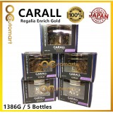 5x Original CARALL Regalia Enrich Velvet Musk GOLD Series / 1386G / 1386 G Air Refreshener 65ml (Special Edition)( Made in Japan)