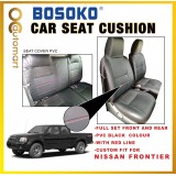 Nissan Frontier Yr 2004 - Car Seat Cushion Cover PVC Black Colour Shining With Red Line ( Made in Malaysia)