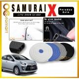 Samurai X Car Door Edge Guards 16Ft (5M) Perodua Axia Rubber Car Door Protector Car Door Trim (4 Door) (Black,White,Gray,Blue)