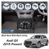 Audi Q5 2019-Present TRAPO Customize Car Floor Mat Black Base with Red Lining,Grey Lining,Blue Lining,Black Lining) Choose The Colour In Colour Family
