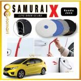 Samurai X Car Door Edge Honda Jazz Guards 16Ft (5M) Rubber Car Door Protector Car Door Trim (4 Door) (Black,White,Gray,Blue,Red)