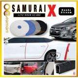 Samurai X Car Door Edge Guards 16Ft (5M) Honda Stream Rubber Car Door Protector Car Door Trim (4 Door) (Black,White,Gray,Blue,Red)