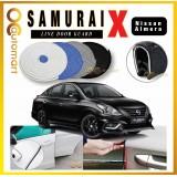 Samurai X Car Door Edge Guards 16Ft (5M) Rubber Car Door Protector Car Door Trim Nissan Almera (4 Door) (Black,White,Gray,Blue,Red)
